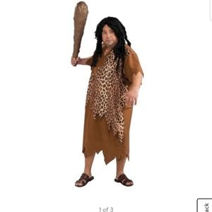 Men's plus size caveman costume